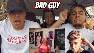 Billie Eilish & Justin Bieber   Bad Guy | REACTION REVIEW (with Lyrics)