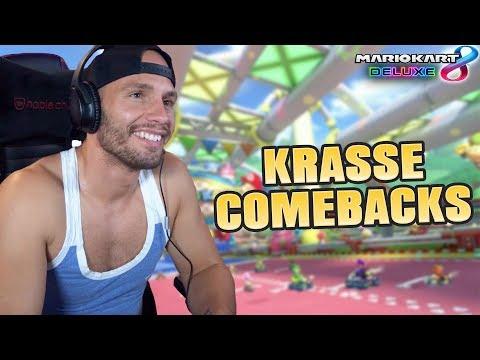 KRASSE COMEBACKS in Mario Kart 8 Deluxe😱 Flying Uwe Gaming