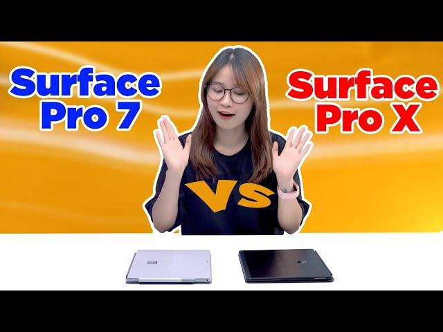 Nên chọn Surface Pro 7 hay Surface Pro X?