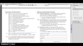 CCA Exam Application Process