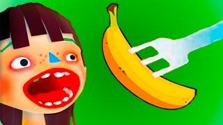 ГОТОВКА ЧЕЛЛЕНДЖ #3 - ЕДА разного ЦВЕТА - веселая игра развлекательное видео #ПУРУМЧАТА