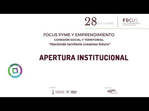 """Apertura institucional del evento Focus Pyme y Emprendimiento Cohesión Territorial """"Haciendo territorio creamos futuro""""[;;;][;;;]"""