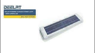 Solar Powered Outdoor Street Light - 3000 Lumens LED     SKU #D1151528