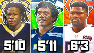 BEST NFL PLAYER FROM EACH HEIGHT