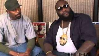 Rick Ross (Officer Ricky) High as F*CK Gets Pissed When Interviewer Asks About 50 Cent (FUNNY)