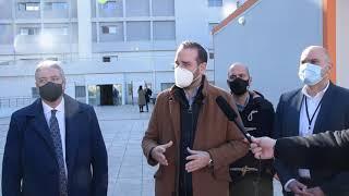 """Επίσκεψη Ν. Φαρμάκη στο Γενικό Νοσοκομείο Πατρών """"Άγιος Ανδρέας"""""""