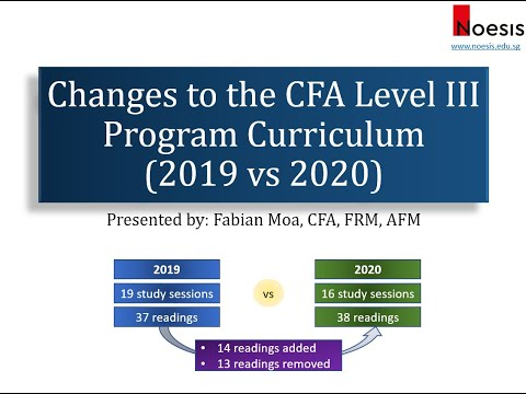 Changes to the CFA Level 3 Program Curriculum (2019 vs 2020)