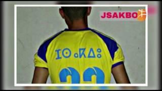 La JSAKBOU avec des maillots transcrits en Tamazight