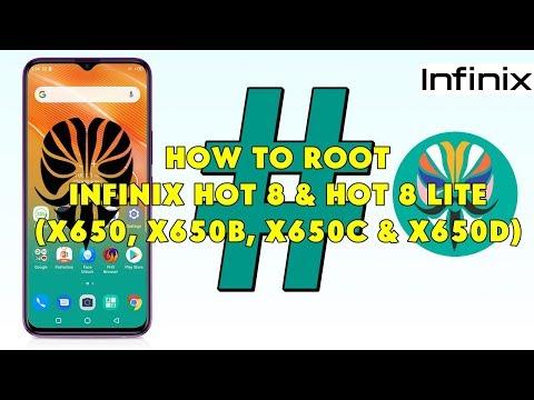 How To Root Infinix Hot 8 & Hot 8 Lite (X650, X650B, X650C & X650D) - [romshillzz]