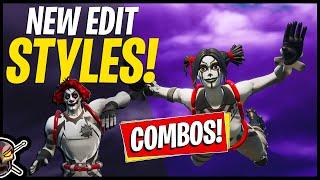 New Sneaky Peek Peekabo + Nite Fright Nite Nite Edit Styles! Gameplay + Combos  Fortnite Br