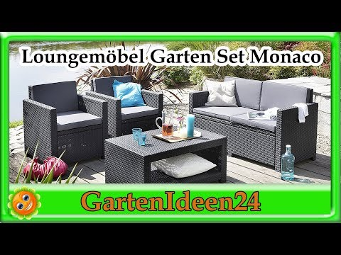 Lounge Set Garten, Monaco, | Gartenidee | Loungemöbel aus Rattan für Terrasse, Garten und Balkon
