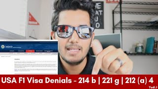 USA F1 Visa Denials and Rejections Types   Reasons behind them   MS in USA