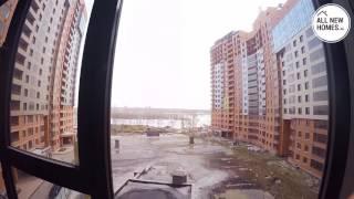 Жилой комплекс Марсель Новосибирск. Лето 2016. Вид от первого лица. Allnewhomes.ru