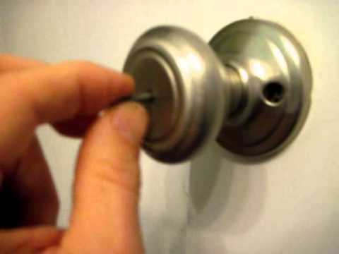 How to Open a Bathroom or Bedroom Privacy Lock from the Outside