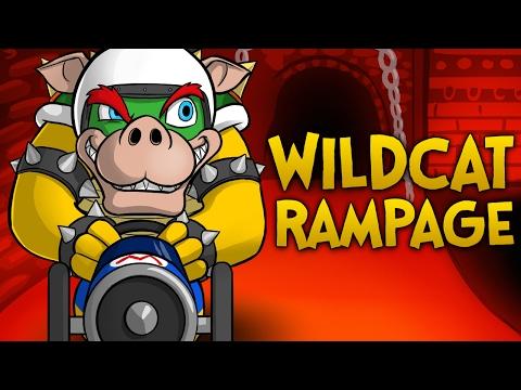 WILDCAT'S RAMPAGE!! - Mario Kart 8 Funny Moments