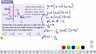 Eğitim Vadisi 11.Sınıf Matematik 9.Föy İkinci Dereceden Fonksiyonlar ve Grafikleri 2 Konu Anlatım Videoları