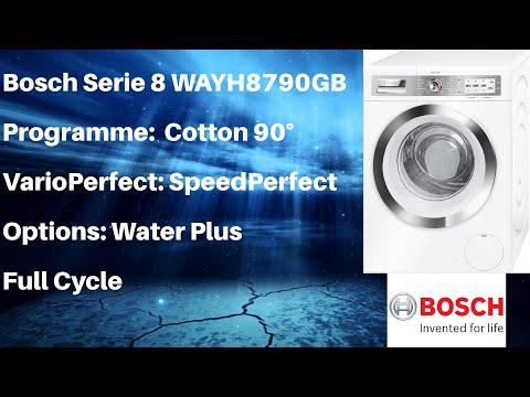 Bosch Serie 8 WAYH8790GB Cotton 90 SpeedPerfect Full Cycle
