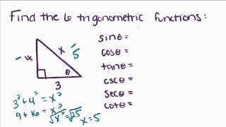 Introduction To Geometry - 12 - Right Triangle Trigonometry