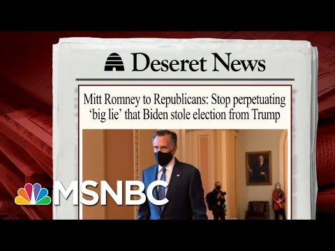 Sen. Romney Takes On GOP Who Make False Election Claims | Morning Joe | MSNBC