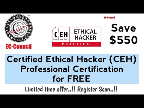 Certified Ethical Hacker (CEH) Professional Certification for Free ...