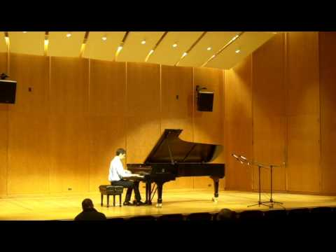Claudio performs Ginastera at the University of Michigan, 2015