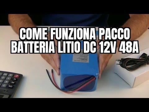 Come funziona Pacco Batteria Litio DC 12V 48000mA