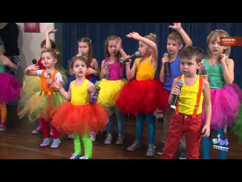 Оранжевое небо. Детский Новогодний праздник в Кидс Галакси (Kids Galaxy). Москва 2014. SEMENViDEO