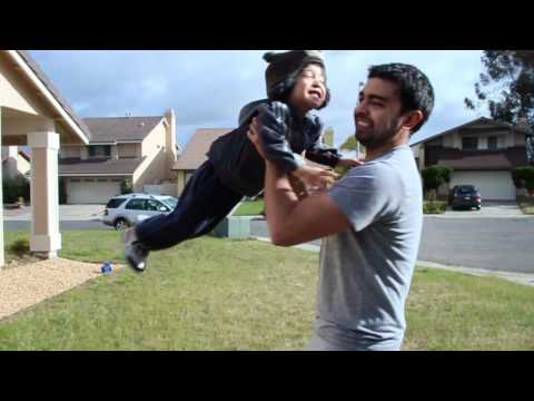 Canon T3i Wide Angle (20.mm f/2.8 lens) on Glidecam HD Test Experiment - Our Son
