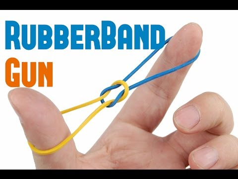 How To Make A  Simple Rubber Band Handgun