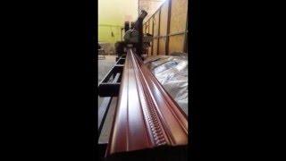Yagmur iniş boruları (köşeli) üretim hattımız