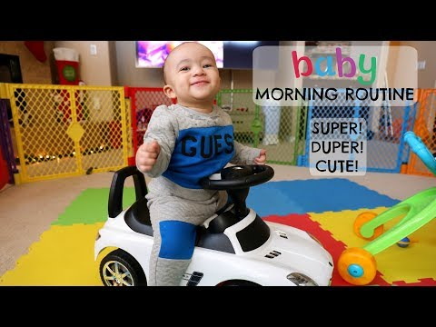 BABY MORNING ROUTINE!!! *CUTEST VIDEO EVER*
