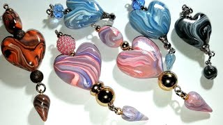 Marble Hearts! A Polymer Clay Beads Tutorial