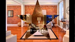 Industrial Loft Design With Brick-Like Walls