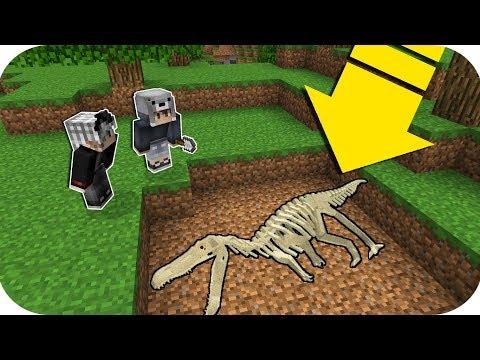 KORKUNÇ DİNAZOR İSKELETİNİ BULUYORUZ! - Minecraft