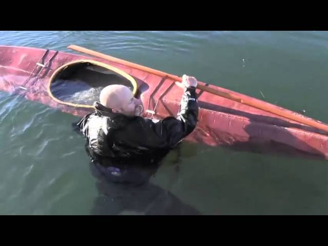 Skin-on-Frame Kayak self rescue
