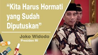 MA Perbolehkan Eks Koruptor Jadi Caleg, Jokowi: Kita Harus Hormati yang Sudah Diputuskan