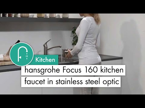 Mitigeur de cuisine 160, 1 jet aspect acier inox