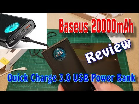 Baseus 20000mAh Type C PD Fast Charging + Quick Charge 3.0 USB Power Bank