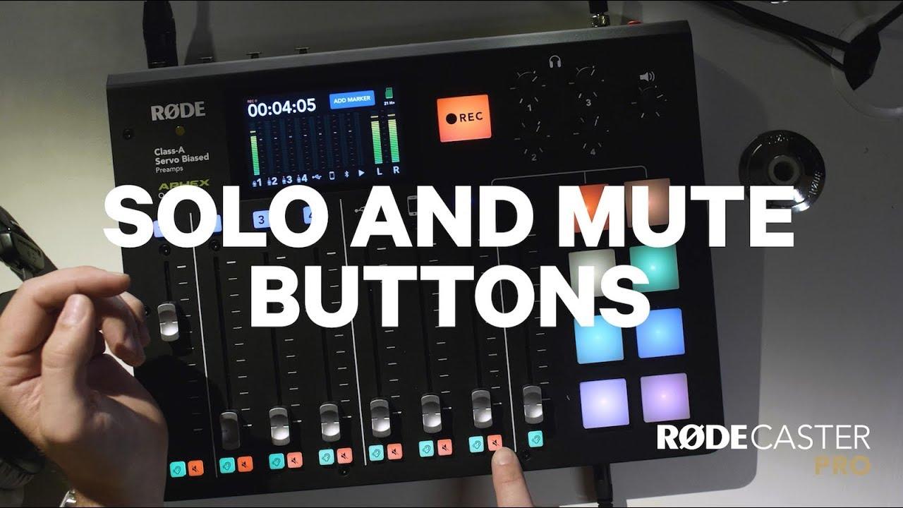 Tlačítka Solo a Mute