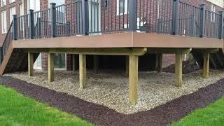Raised Deck Design Decisions - Elevated Stone Deck In Macomb County, MI