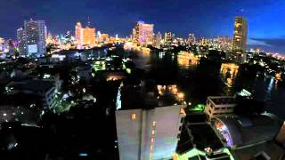 2015-05-18 Timelapse - Day into Night, Chao Phraya River, Bangkok