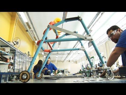 Projeto do Senai barateia custo de andador para deficientes físicos