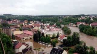 preview picture of video 'Hochwasser in Colditz 03.06.2013'