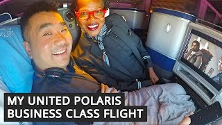 My REAL United POLARIS Business Class Flight