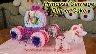 Princess Carriage Diaper Cake