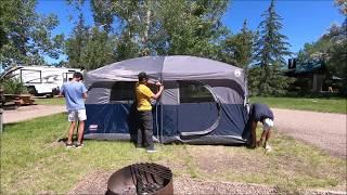 Coleman Hampton 9 Person Tent dismantling