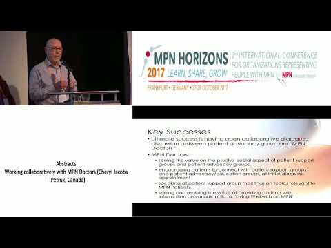 Working collaboratively with MPN Doctors - MPN Horizons 2017