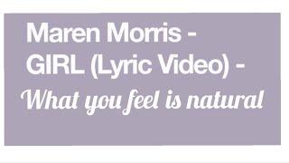 Girl Lyrics  Maren Morris