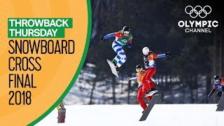 Snowboard Cross Finals Pyeongchang 2018 Ft. Michela Moioli | Throwback Thursday