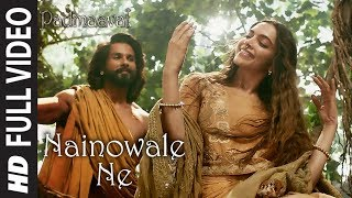 "Presenting the full video song 'Nainowale Ne' from the movie  Padmaavat in the voice of Neeti Mohan, Music by Sanjay Leela Bhansali and Lyrics by Siddharth - Garima.   Viacom18 Motion Pictures and Bhansali Productions present Padmaavat, Directed by Sanjay Leela Bhansali and produced by Sudhanshu Vats, Ajit Andhare & Sanjay Leela Bhansali. The movie starring Ranveer Singh, Deepika Padukone, Shahid Kapoor, Aditi Rao Hydari and Jim Sarbh.Padmavati is slated to release on 25th January  2018.  Get it on iTunes - http://bit.ly/Padmaavat-iTunes  Also, Stream it on  Hungama : http://bit.ly/Padmaavat-Hungama Saavn : http://bit.ly/Padmaavat-Saavn Gaana : http://bit.ly/Padmaavat-Gaana Apple Music : http://bit.ly/Padmaavat-Apple-Music Google Play : http://bit.ly/Padmaavat-Google-Play Wynk : http://bit.ly/Padmaavat-Wynk Jio Music : http://bit.ly/Padmaavat-Jio-Music  _______________________________________ For  Caller Tunes : Nainowale Ne http://bit.ly/2rvHMgH Pag Pag-Nainowale Ne http://bit.ly/2F3WmxQ  Set as Caller Tune: Set ""Nainowale Ne"" as your caller tune - sms PADMA10 To 54646 Set ""Pag Pag-Nainowale Ne"" as your caller tune - sms PADMA11 To 54646 ________________________________________ ________________________________________ ♪Song -  Nainowale Ne ♪Singer -  Neeti Mohan ♪Music  -  Sanjay Leela Bhansali ♪Lyricist -  Siddharth - Garima ♪Song Produced by – Shail Hada ♪Songs Recorded, Mixed & Mastered by Tanay Gajjar at Wow & Flutter Studio. ♪Assisted by Rupak Thakur ♪Music Label: T-Series ________________________________________ Operator Codes:  1.Nainowale Ne Vodafone Subscribers Dial 53710146939 Airtel Subscribers Dial 5432116468830 Idea Subscribers Dial 5678910146939 Tata DoCoMo Subscribers dial 54321110146939 Aircel Subscribers sms DT 6962349  To 53000 BSNL (South / East) Subscribers sms BT 10146939 To 56700 BSNL (North / West) Subscribers sms BT 6962349 To 56700 Virgin Subscribers sms TT 10146939 To 58475 Telenor Subscribers dial 500110146939 MTNL Subscribers sms PT 10146939 To 56789  2.Pag Pag-Nainowale Ne Vodafone Subscribers Dial 53710146925 Airtel Subscribers Dial 5432116469182 Idea Subscribers Dial 5678910146925 Tata DoCoMo Subscribers dial 54321110146925 Aircel Subscribers sms DT 6962350  To 53000 BSNL (South / East) Subscribers sms BT 10146925 To 56700 BSNL (North / West) Subscribers sms BT 6962350 To 56700 Virgin Subscribers sms TT 10146925 To 58475 Telenor Subscribers dial 500110146925 MTNL Subscribers sms PT 10146925 To 56789  ___ Enjoy & stay connected with us! ► Subscribe to T-Series: http://bit.ly/TSeriesYouTube ► Like us on Facebook: https://www.facebook.com/tseriesmusic ► Follow us on Twitter: https://twitter.com/tseries ► Follow us on Instagram: http://bit.ly/InstagramTseries"
